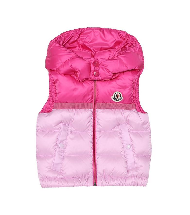 Moncler Enfant Baby Darbon down vest in pink