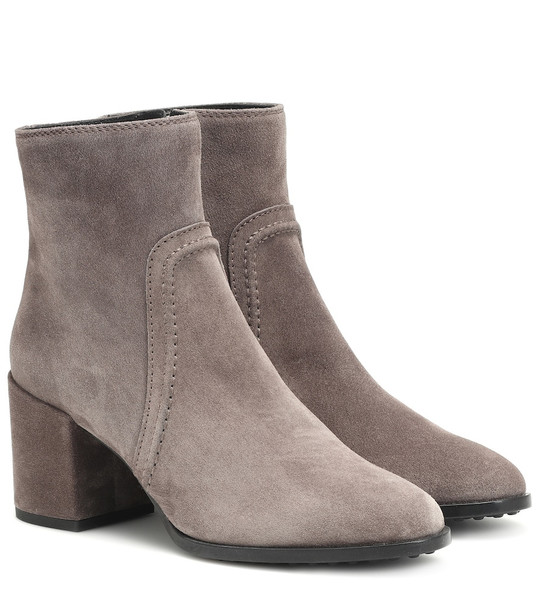Tod's Suede ankle boots in grey