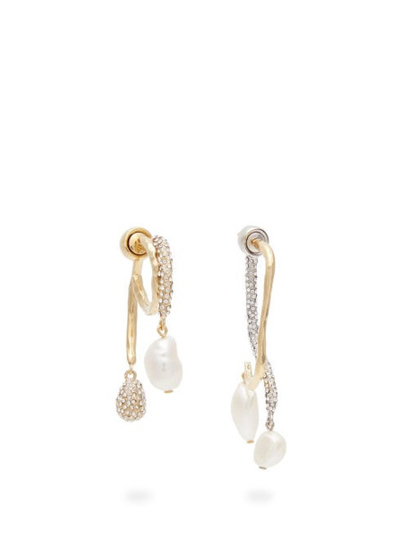 Givenchy - Moonlight Pearl Mismatched Earrings - Womens - Silver Gold