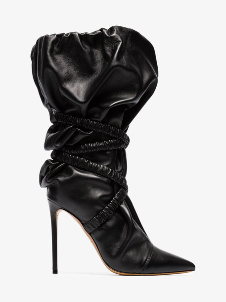 Alexandre Vauthier Dune 100 wraparound leather boots in black
