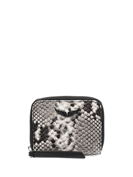 Zadig&Voltaire snakeskin effect purse in grey