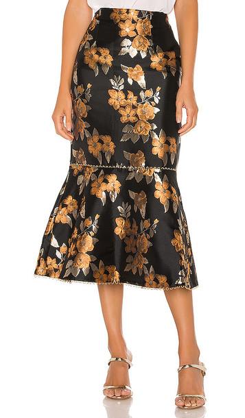 V. Chapman Opera Skirt in Black
