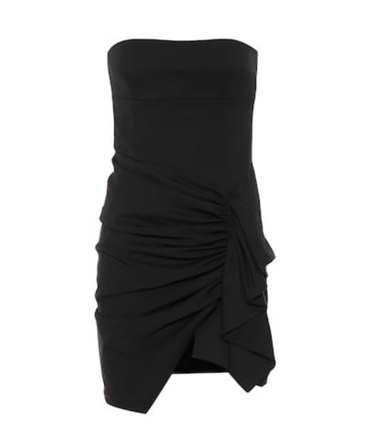 Alexandre Vauthier Strapless stretch wool minidress in black