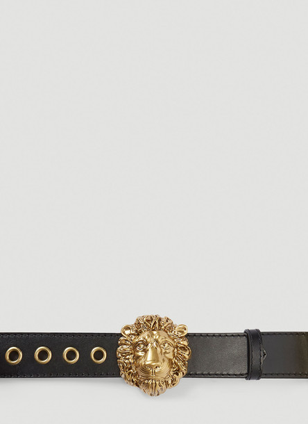 Gucci Lion Head Belt in Black size 75