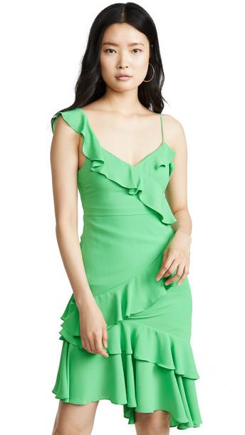 LIKELY Zoe Dress in green