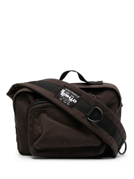 Eastpak logo patch backpack in brown