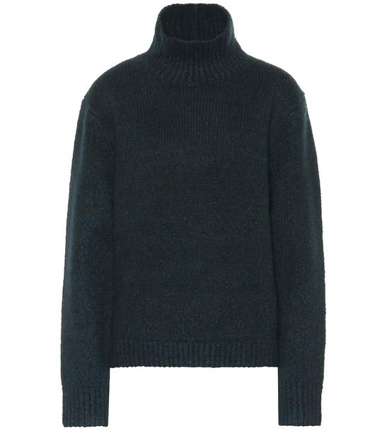 Acne Studios Wool-blend turtleneck sweater in green