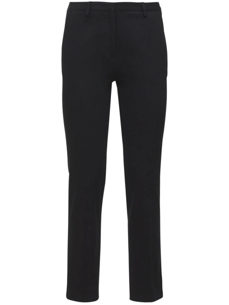 LARDINI Tino Stretch Cotton Gabardine Pants in black