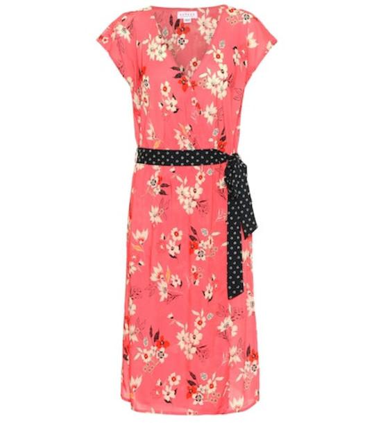 Velvet Romina floral dress in pink