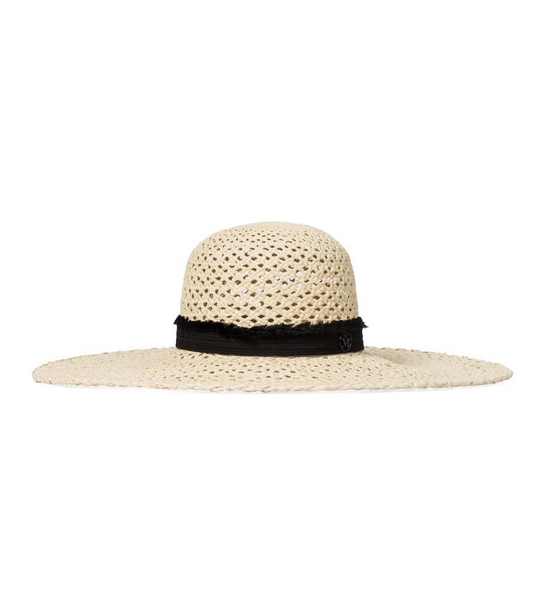 Maison Michel Blanche straw hat in neutrals