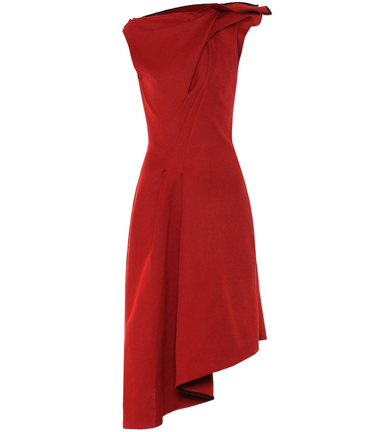 Maticevski Paramour knit midi dress in red