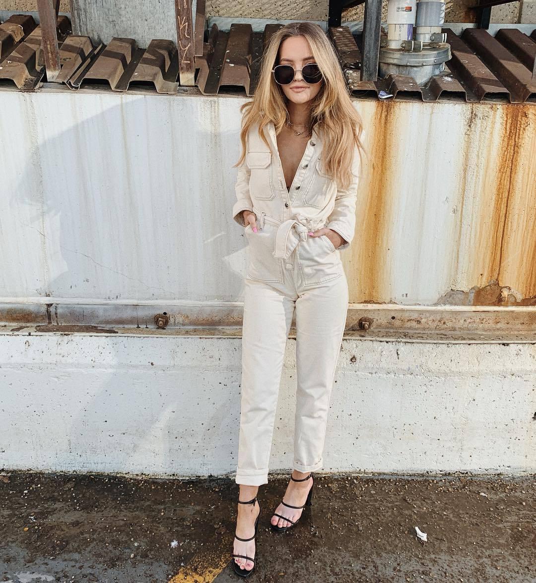 jumpsuit long sleeves topshop black sandals sunglasses
