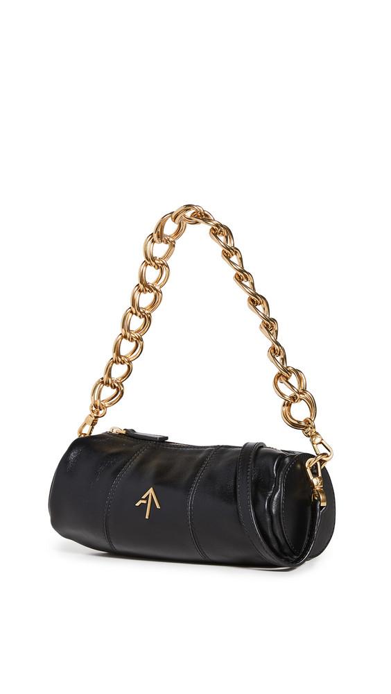 MANU Atelier Mini Cylinder Shoulder Bag in black