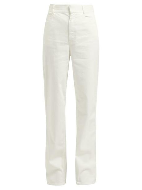 Tibi - Washed Denim Straight Leg Jeans - Womens - White
