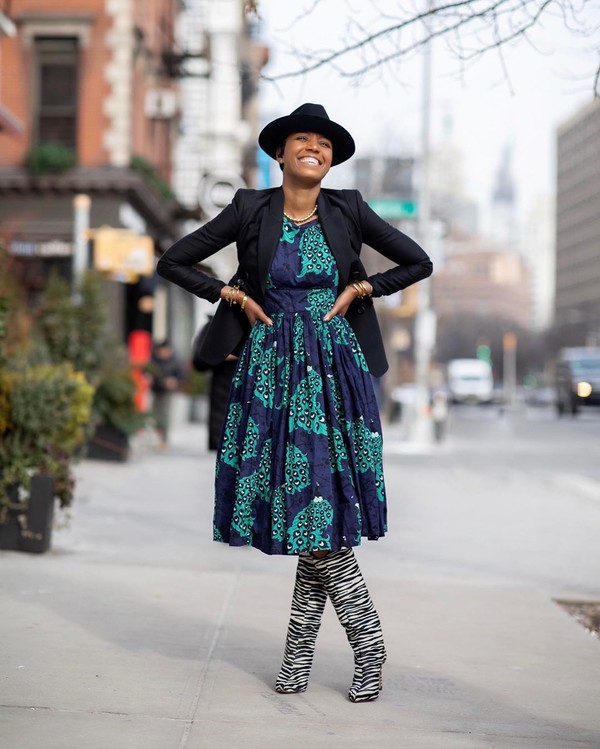 shoes knee high boots zebra zebra print midi dress black blazer