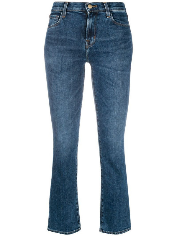 J Brand Selena cropped flared jeans in blue