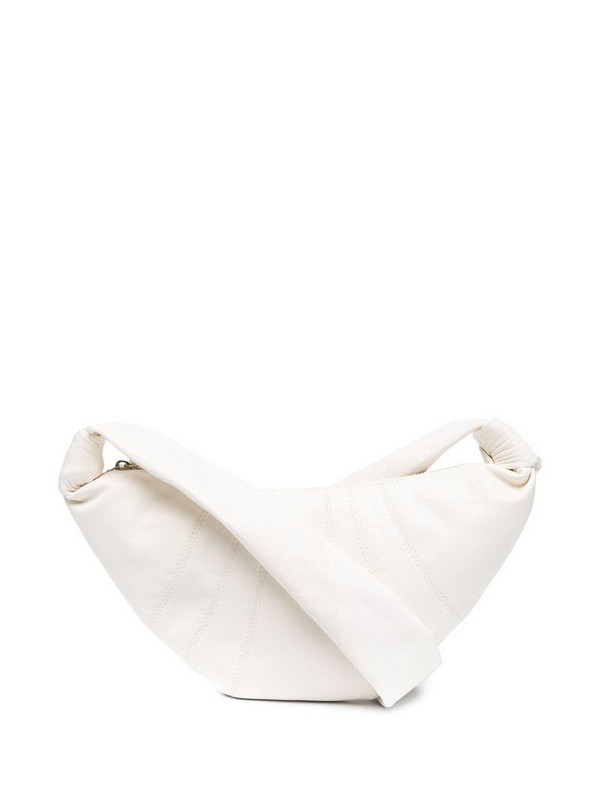 Lemaire knot-detail crossbody bag in white