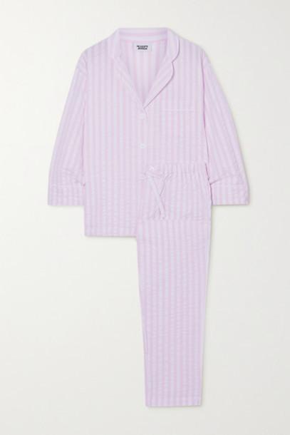Sleepy Jones - Marina Striped Cotton-seersucker Pajama Set - Pink
