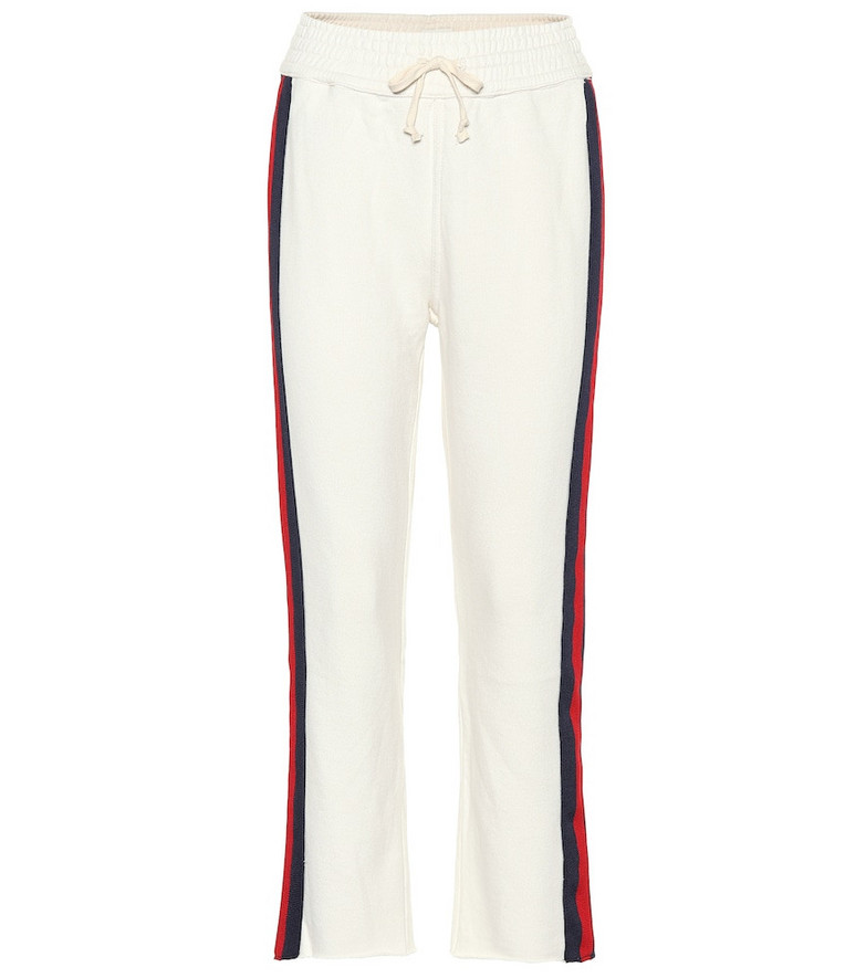 Mother Slim Jim Fray sweatpants in white