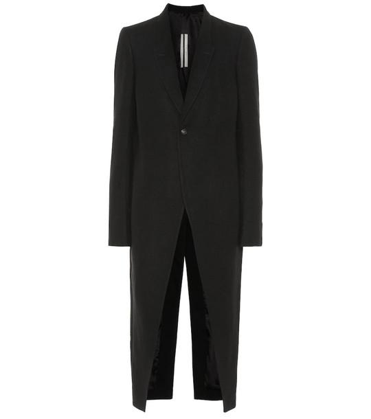 Rick Owens Cyclops wool coat in black