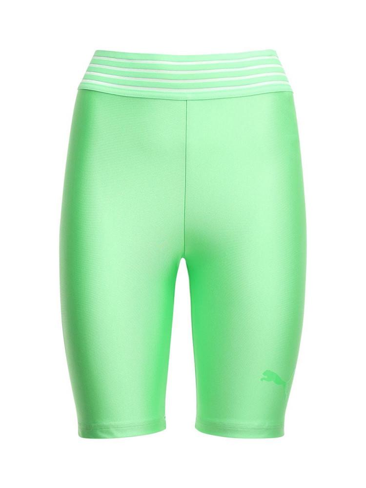 PUMA SELECT Lurex Biker Leggings in green