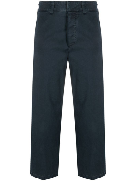 Department 5 cropped wide-leg trousers in grey