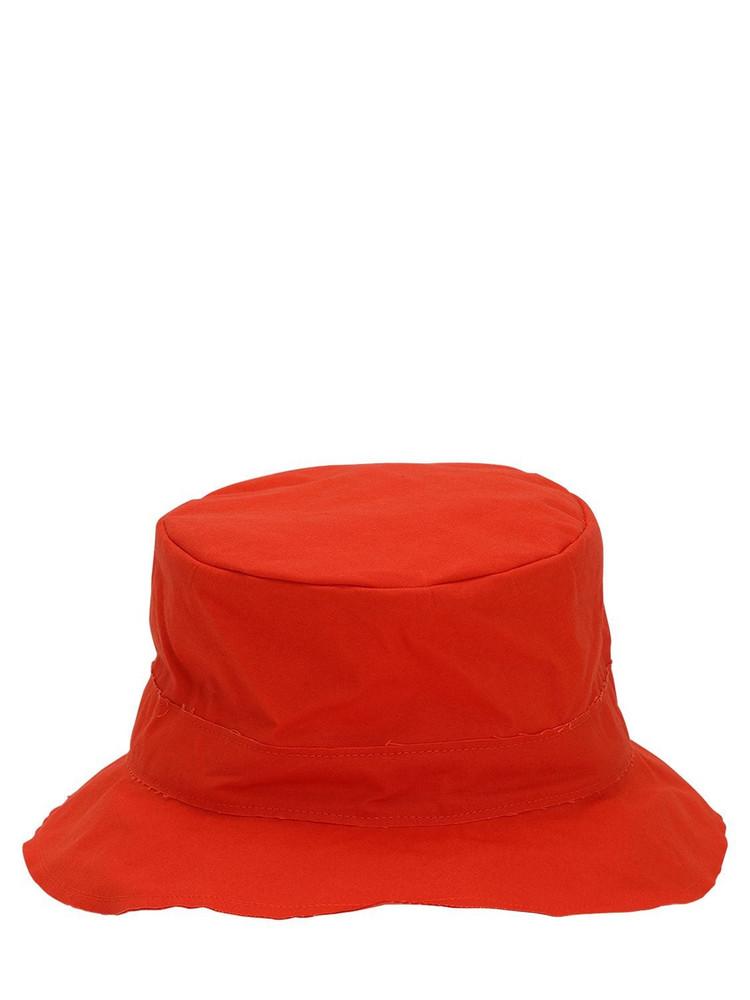 SCHA Waxed Cotton Bucket Hat in orange
