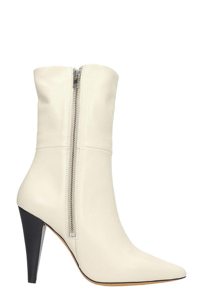 IRO Leona Ankle Boots In Beige Leather