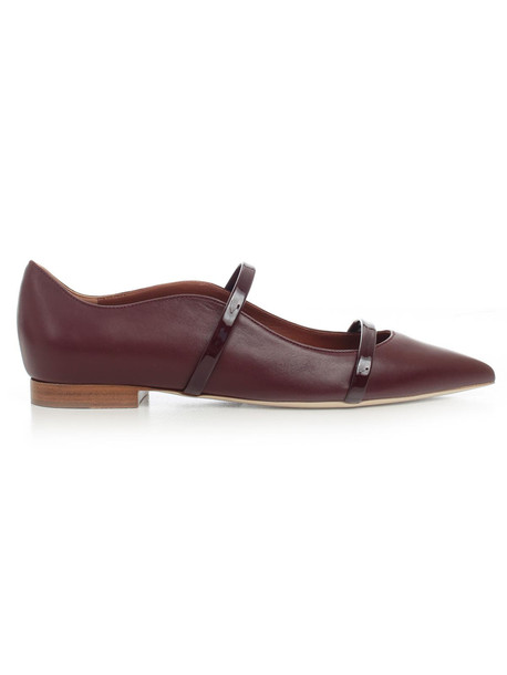 Malone Souliers Ballerinas Nappa W/patent Details