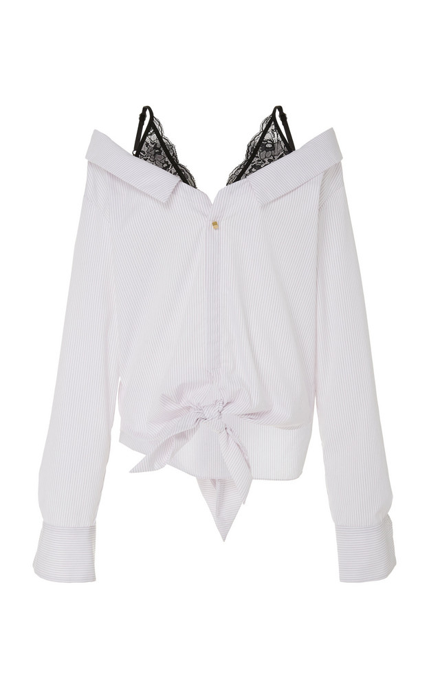 Hellessy Fontana Cotton-Blend Blouse in white