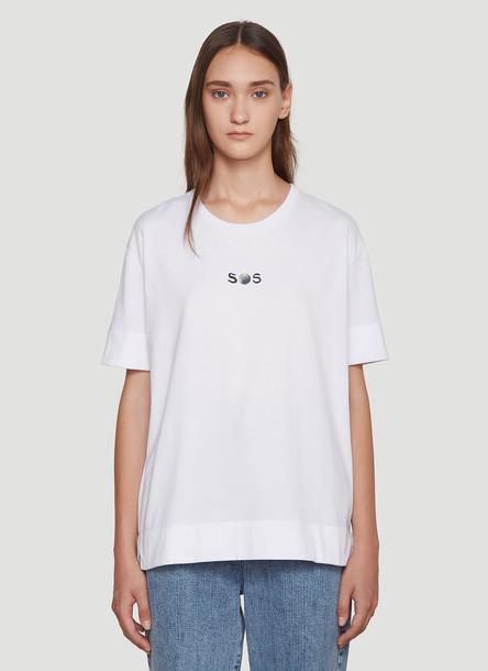 Stella McCartney Oversized SOS T-Shirt in White size IT - 44