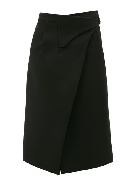 WARDROBE.NYC Wardrobe. nyc - Release 05 Merino-wool Wrap Midi Skirt - Womens - Black