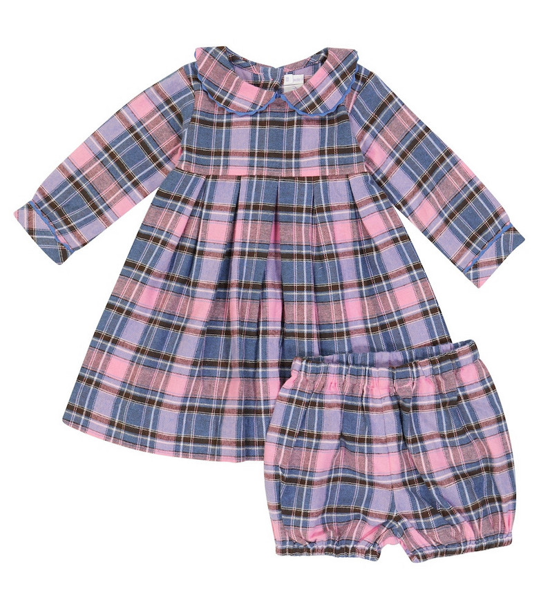 Rachel Riley Baby checked cotton dress and bloomers set