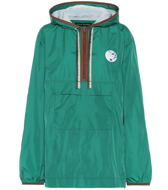 Acne Studios Nylon anorak jacket in green