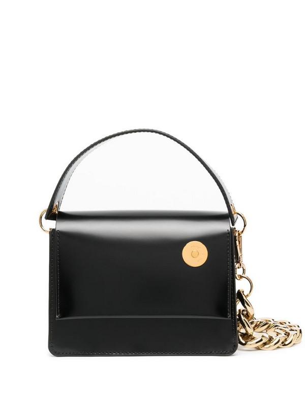 Kara square-shape tote bag in black