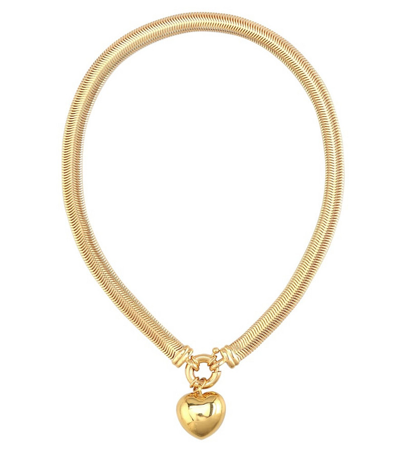 Timeless Pearly Heart gold-plated necklace