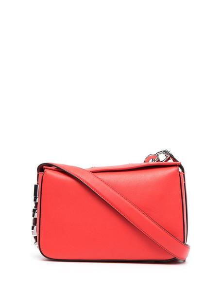 Karl Lagerfeld K/Letters logo plaque shoulder bag in red