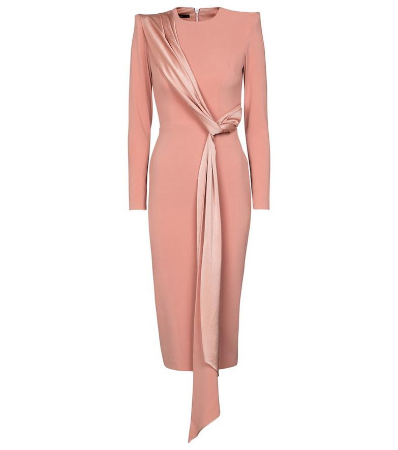 Alex Perry Arden crêpe midi dress in pink