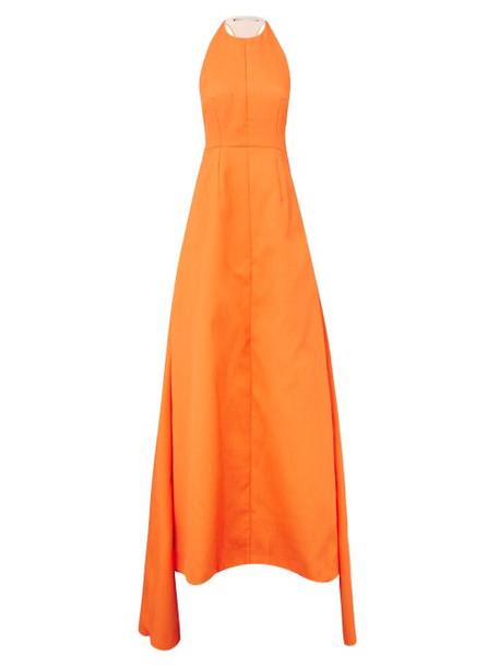 Emilia Wickstead - Helosie Racerback Cloqué Gown - Womens - Orange