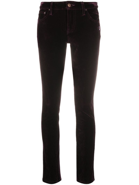Marc Jacobs velvet-effect skinny jeans in purple