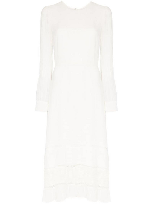 Reformation Valerie tiered midi dress in white