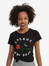top,t-shirt,graphic tee,band t-shirt,rock,rose