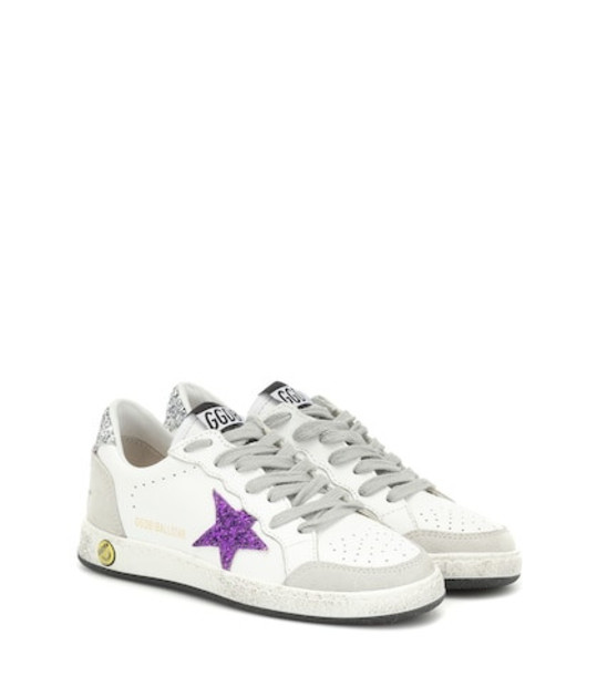 Golden Goose Deluxe Brand Kids Ball Star leather sneakers in white