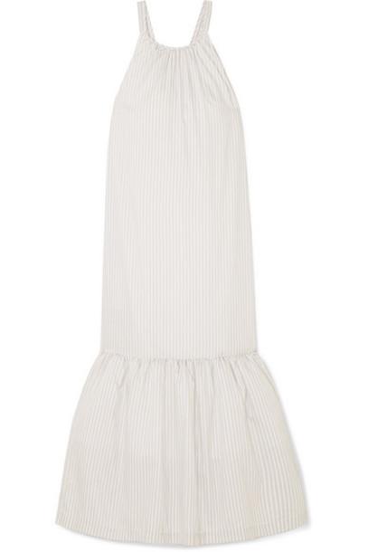 3.1 Phillip Lim - Tiered Striped Cotton-blend Maxi Dress - Light gray