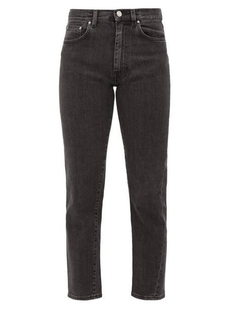 Totême - Cropped Slim-fit Jeans - Womens - Black