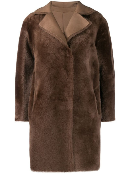 Desa 1972 shealing coat in brown