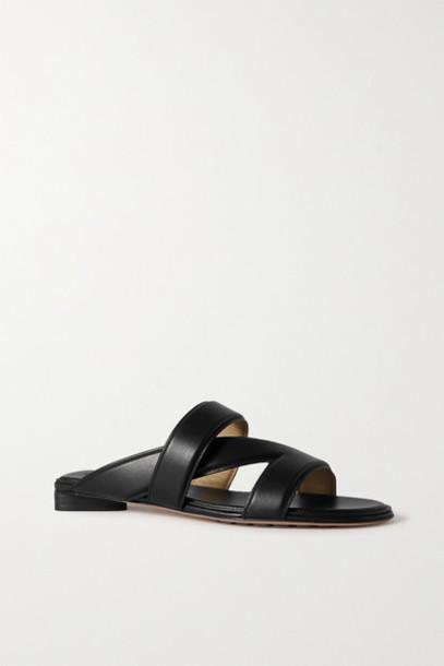 Bottega Veneta - Leather Sandals - Black