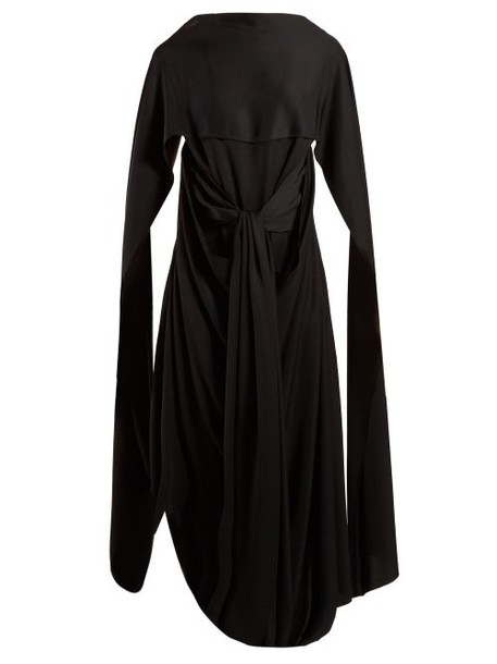 Jw Anderson - Draped Long Dress - Womens - Black