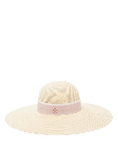 Maison Michel - Blanche Straw Hat - Womens - Pink