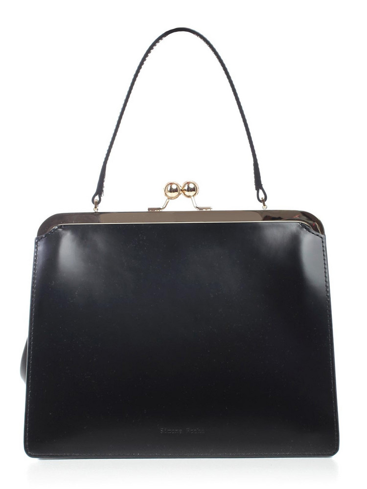 Simone Rocha Debossed Logo Tote in black
